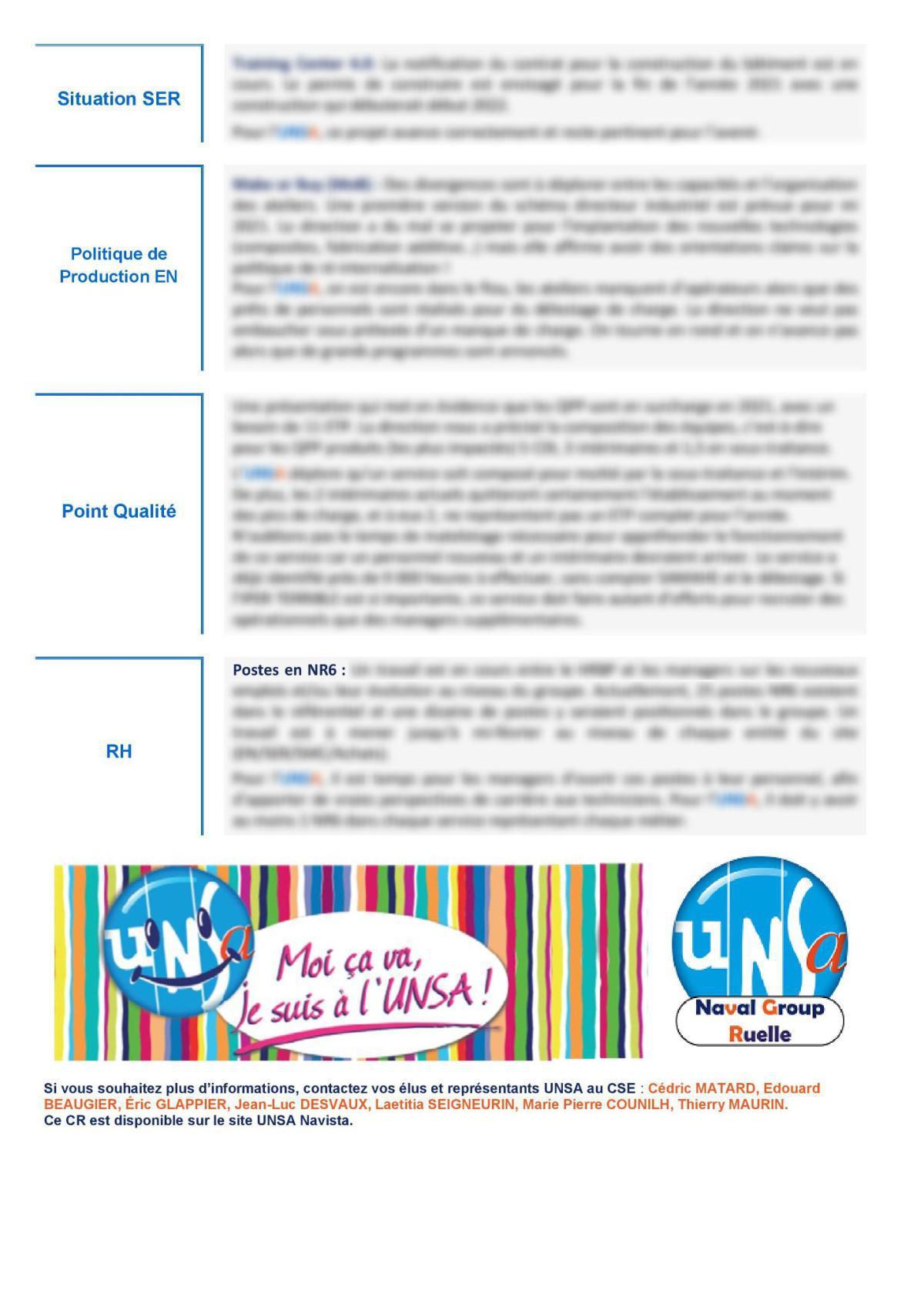 Réunion du 12 janvier 2021 - Compte Rendu