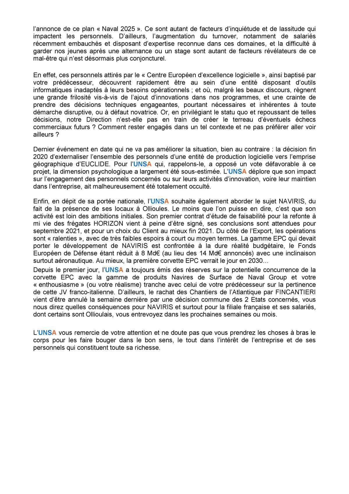 Visite du PDG à Ollioules - réunion du 3 février 2021