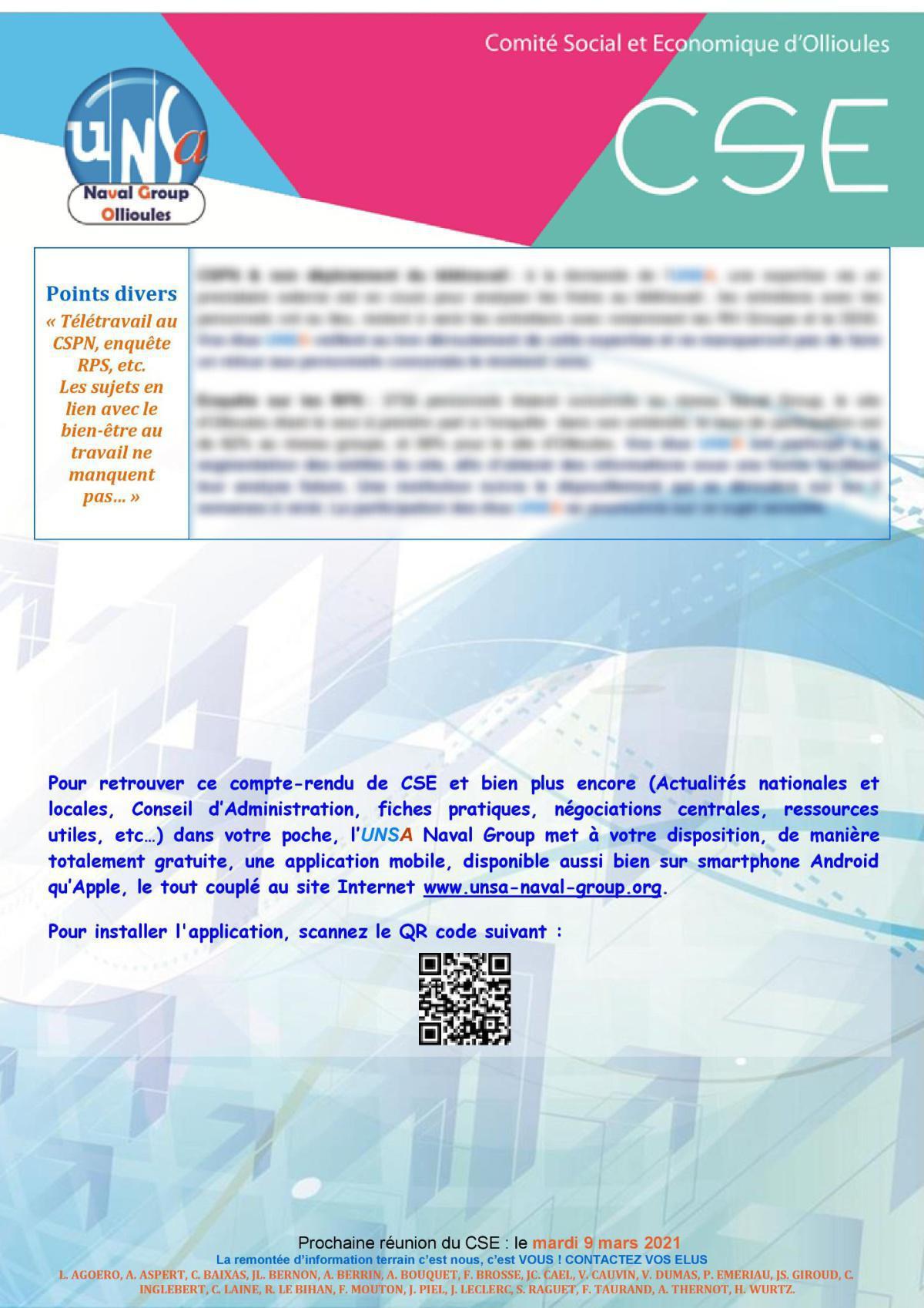 CSE d'Ollioules - réunion du 9 février 2021