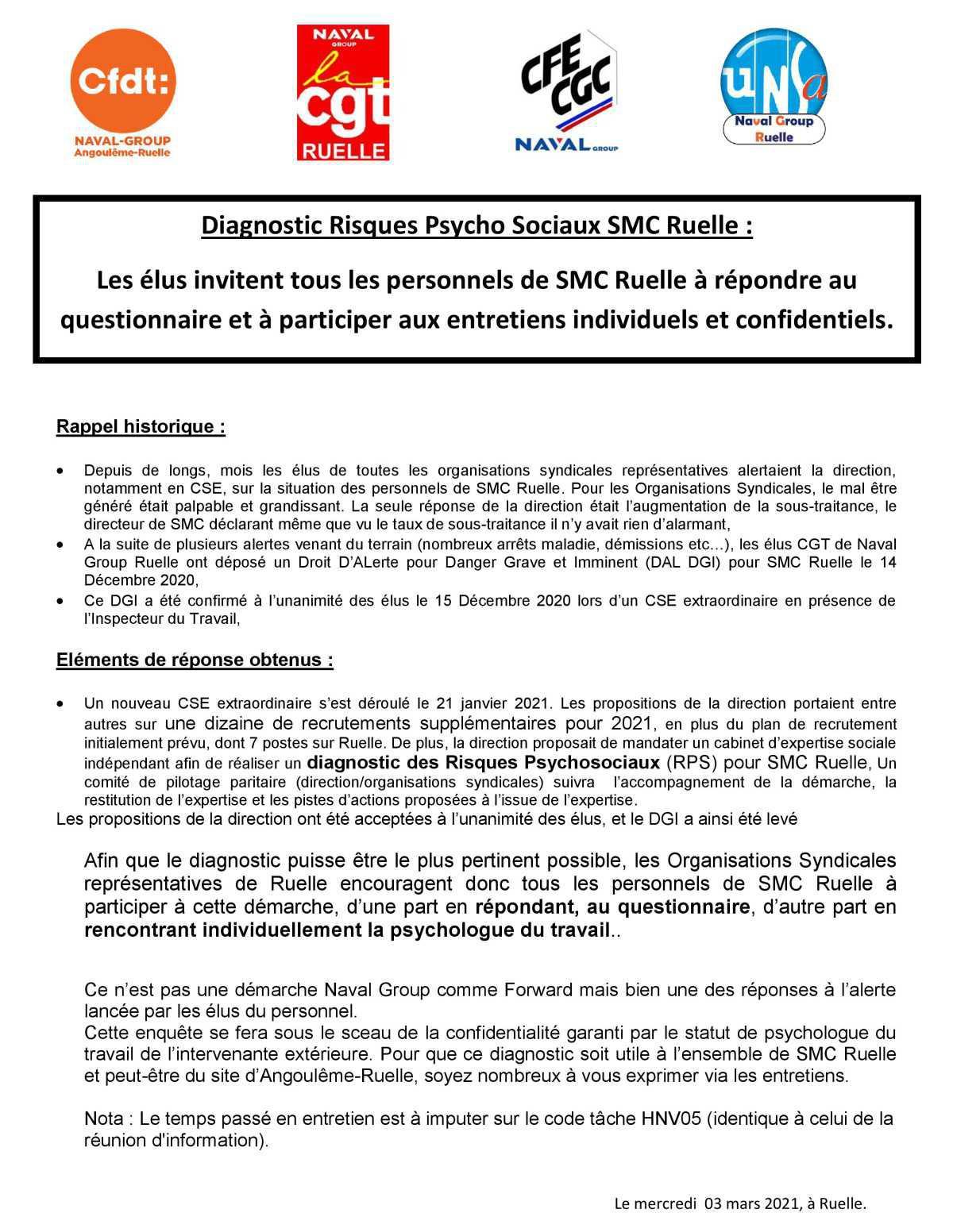 Diagnostic Risques Psycho Sociaux - SMC Ruelle