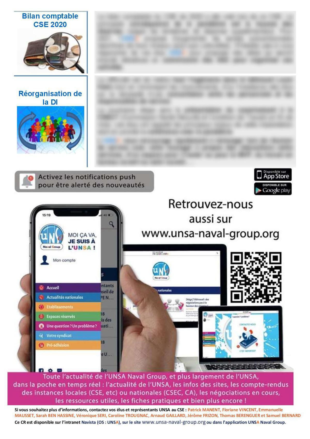 CSE de Saint Tropez - Réunion du 9 mars 2021 - Compte rendu