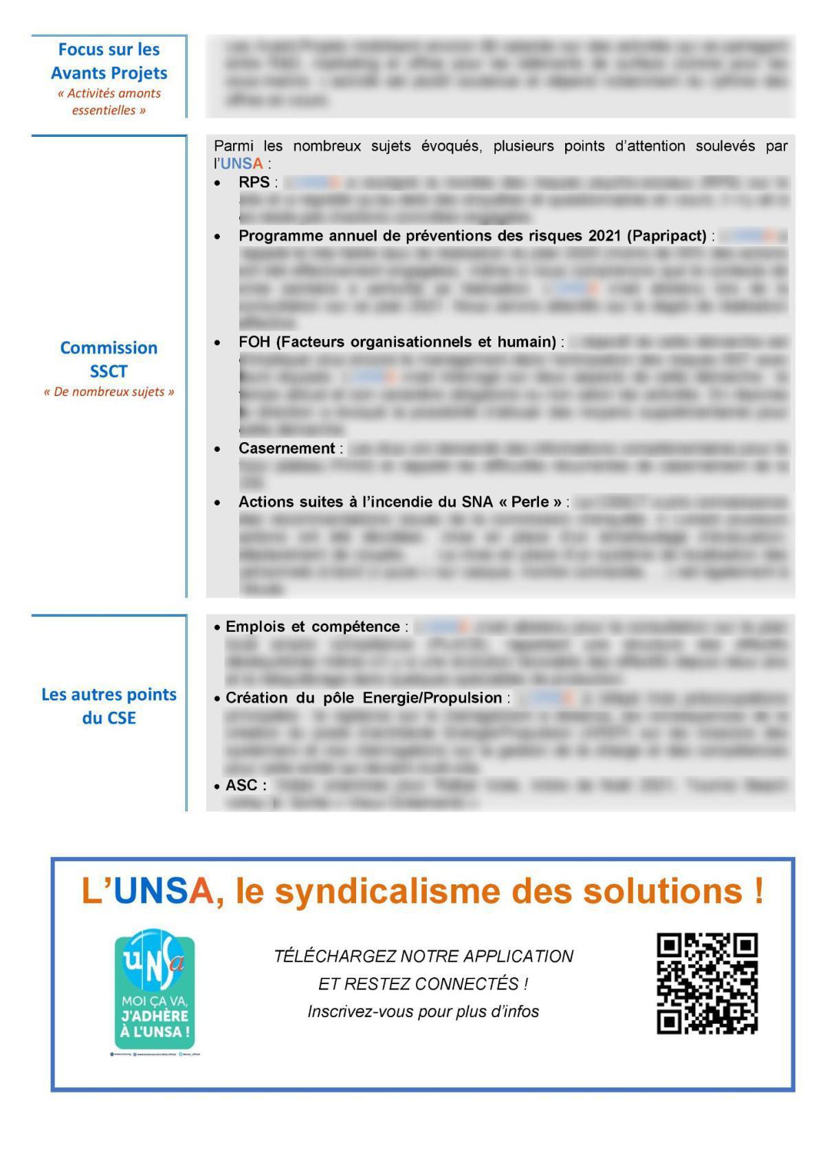 CSE de Lorient - réunion du 9 mars 2021