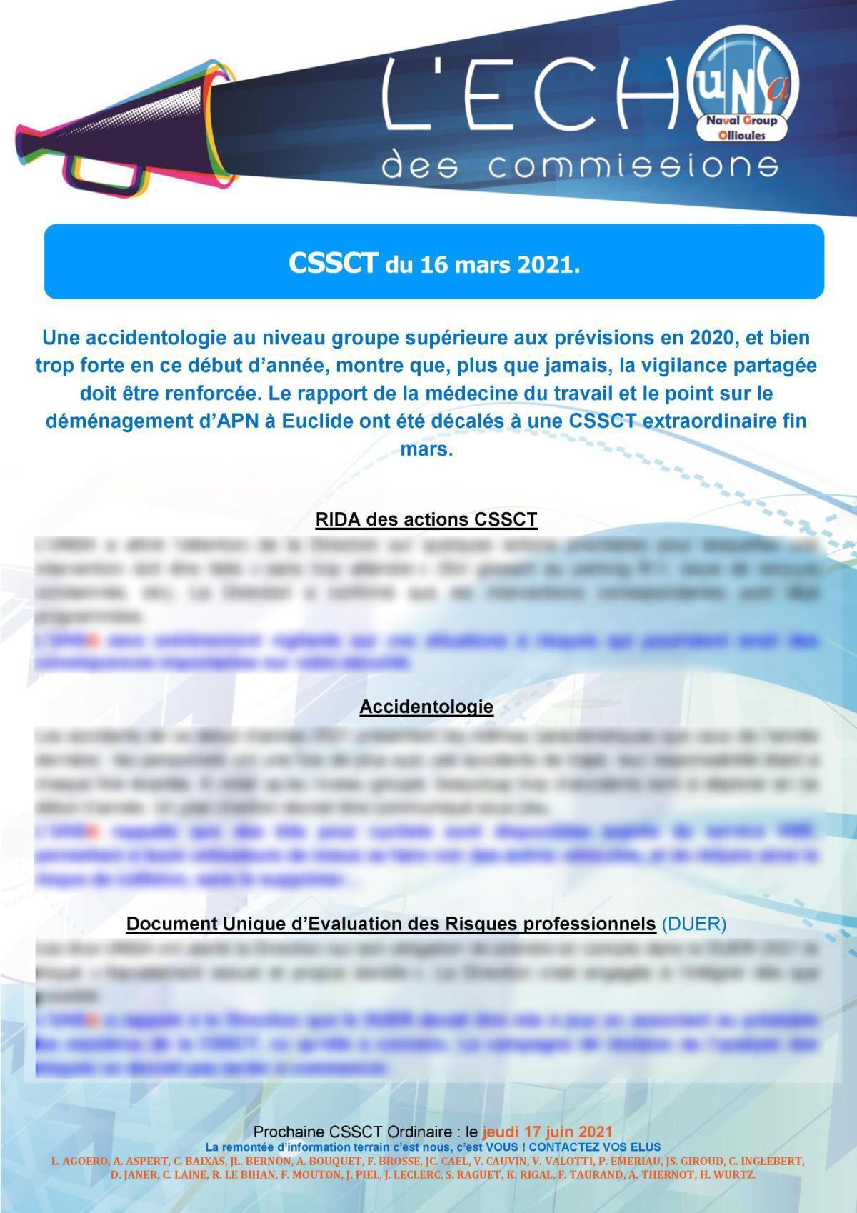 L'Echo des Commissions d'Ollioules - réunion du 16 mars 2021