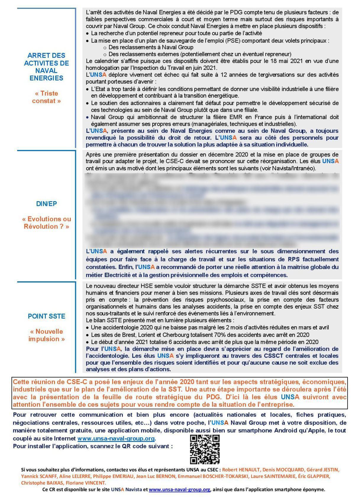 Réunion du 17 mars 2021 - Compte Rendu