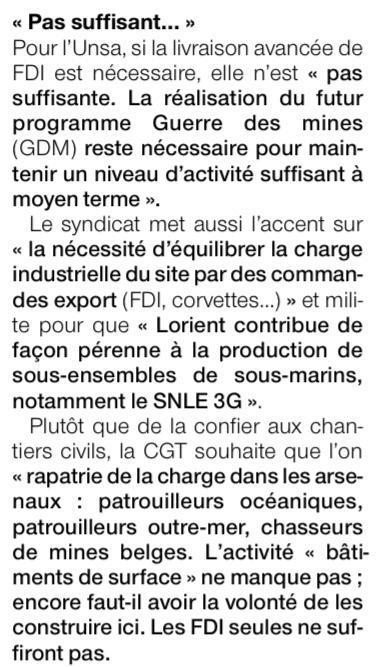 Visite de la Ministre des Armées à Naval Group Lorient : et une, et deux et trois frégates d'intervention !