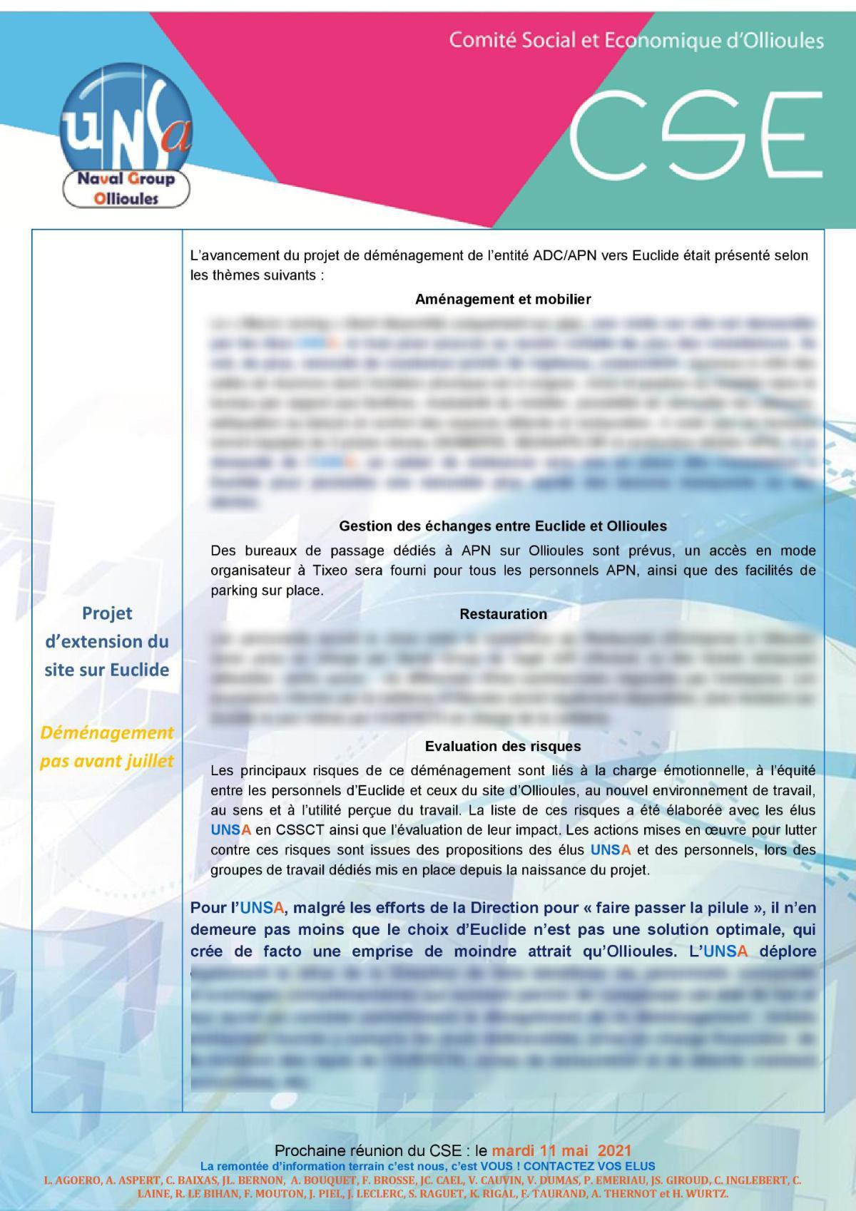 CSE d'Ollioules - réunion du 13 avril 2021