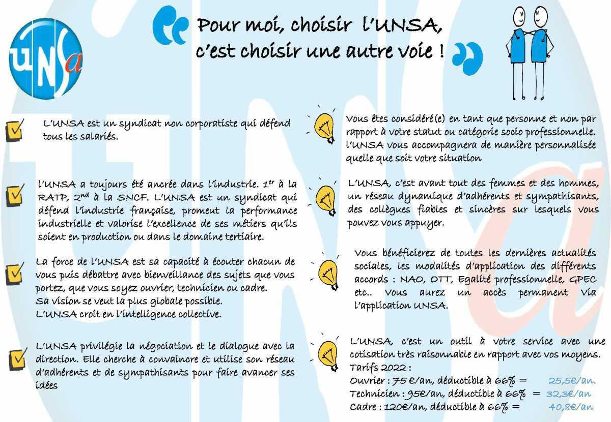 Rejoignez l'UNSA !