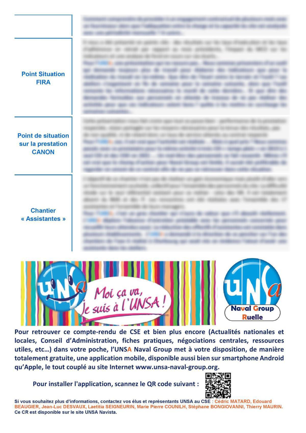 CSE de Ruelle - Réunion du 8 juin 2021 - Compte rendu