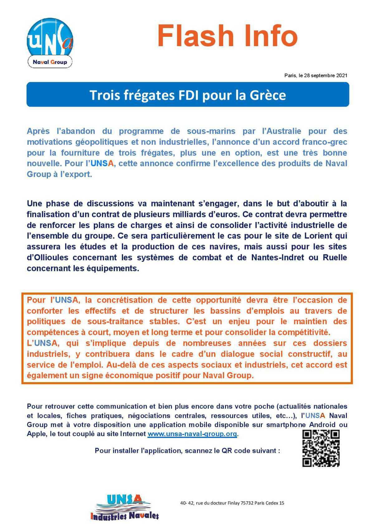 Trois frégates FDI pour la Grèce