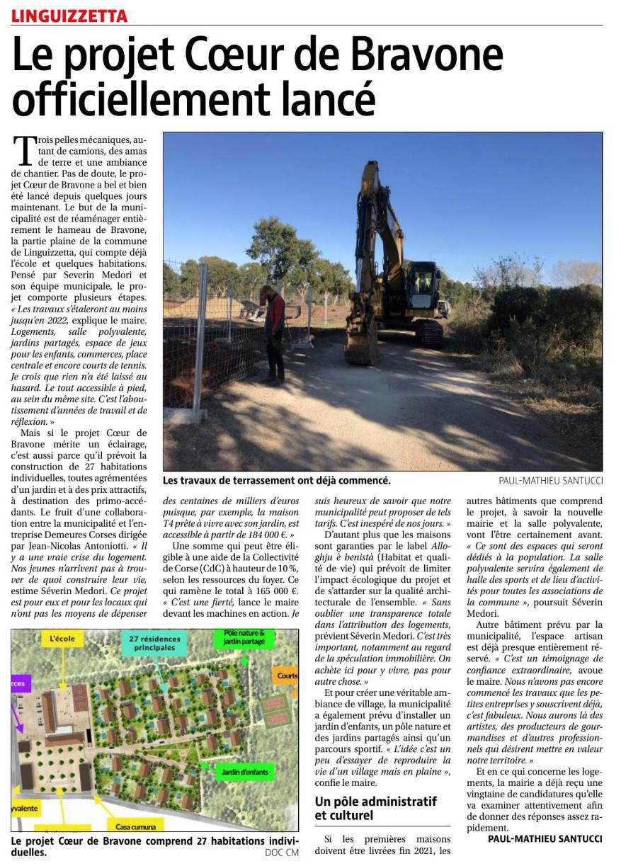 Article Corse-Matin du 25/11/2020