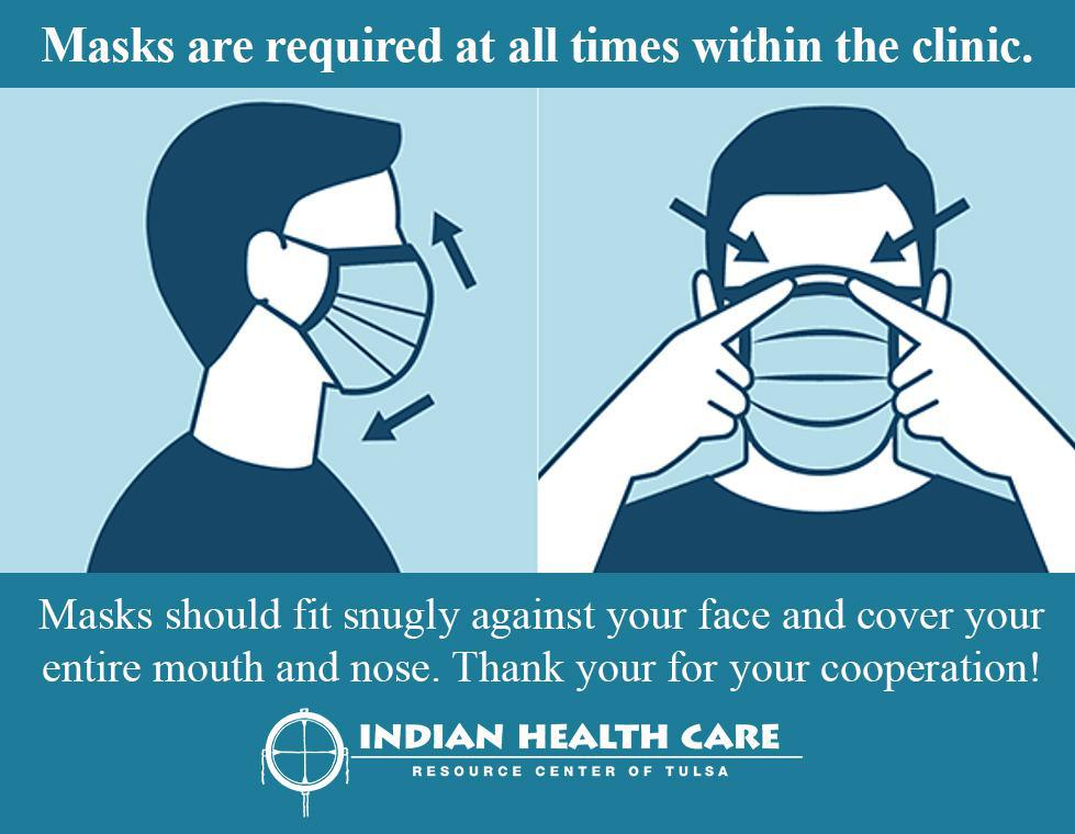 Please wear your mask at the clinic.