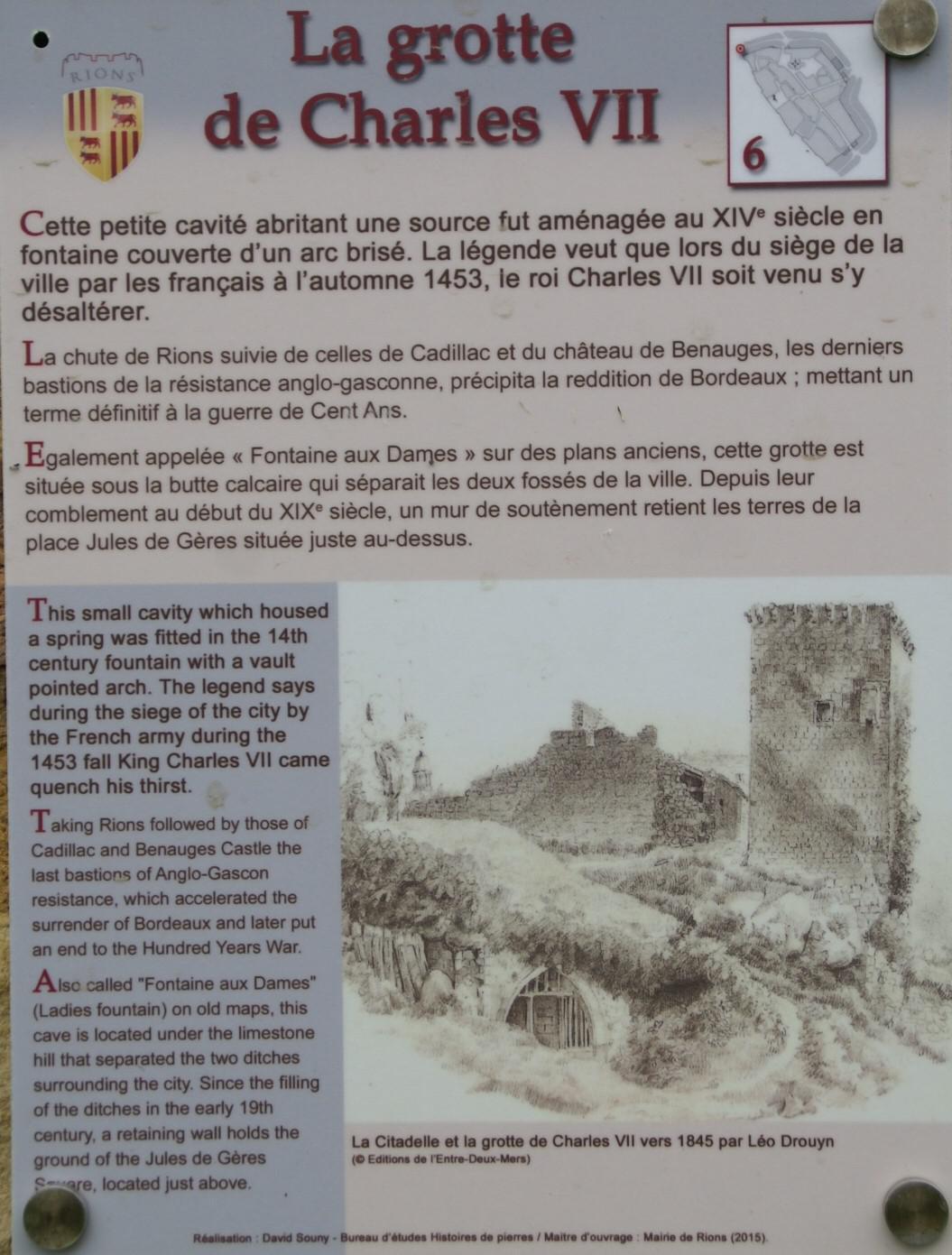 La Citadelle et la grotte Charles VII