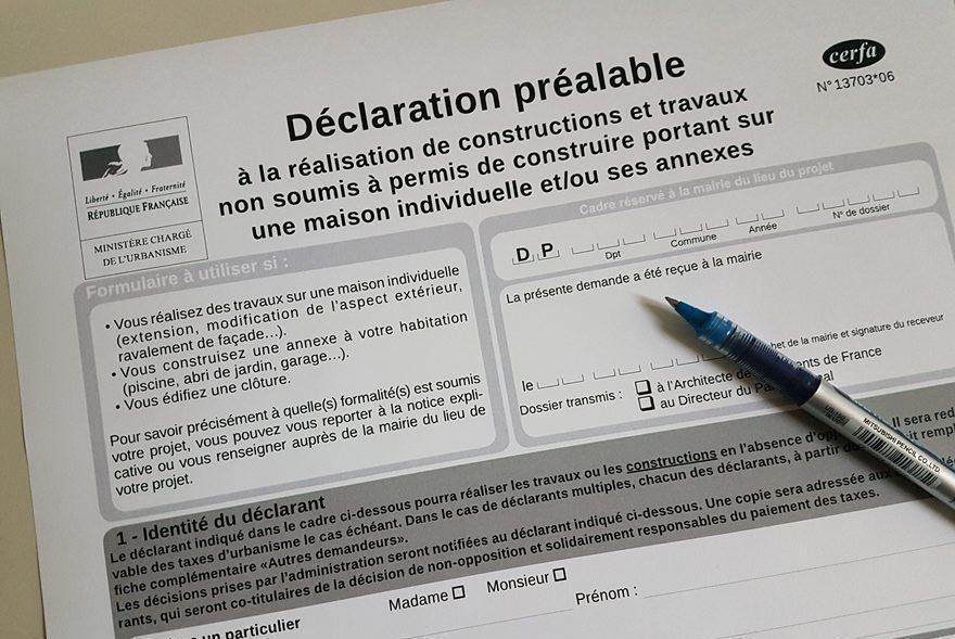 Déclaration Préalable (de travaux)