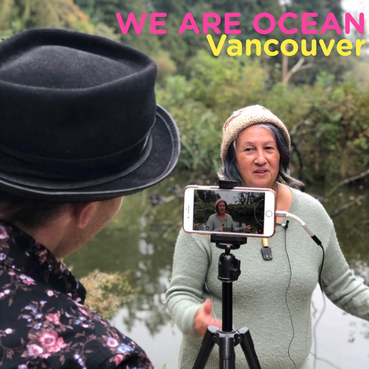 Oli and Cease, filming at Lost Lagoon in Stanley Park