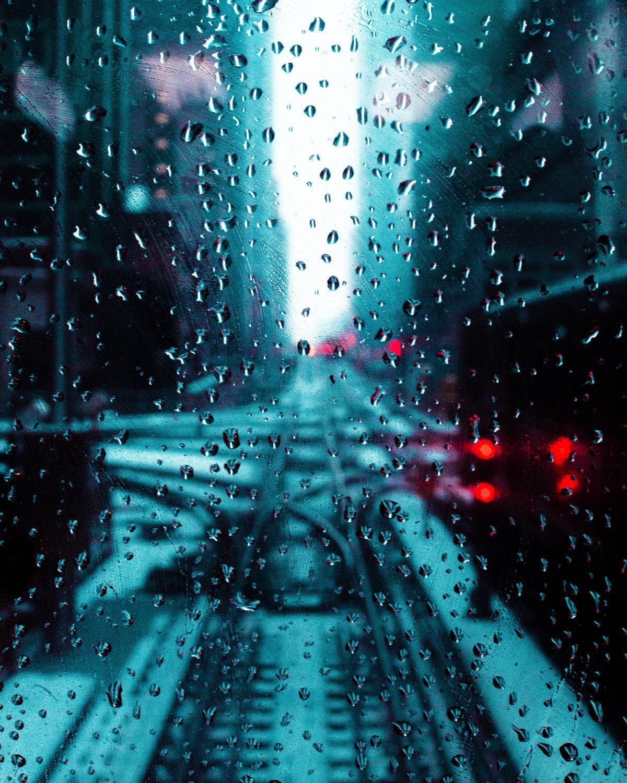 Der Regen vor dem Haus