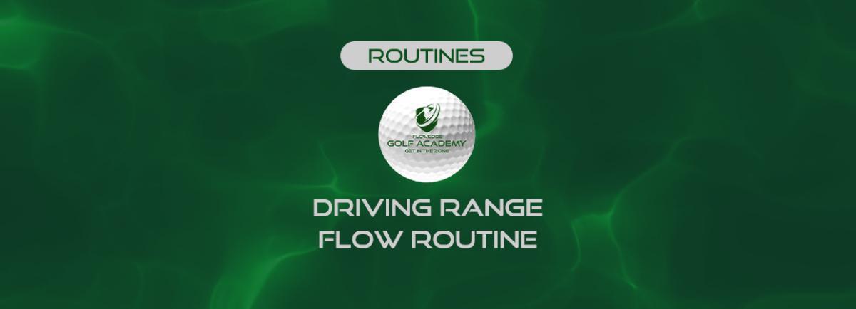 Driving range flow routine