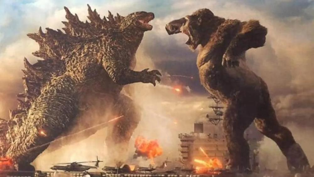 Two of cinema's most fearsome giants prepare for a throw down in new Godzilla vs Kong teaser poster