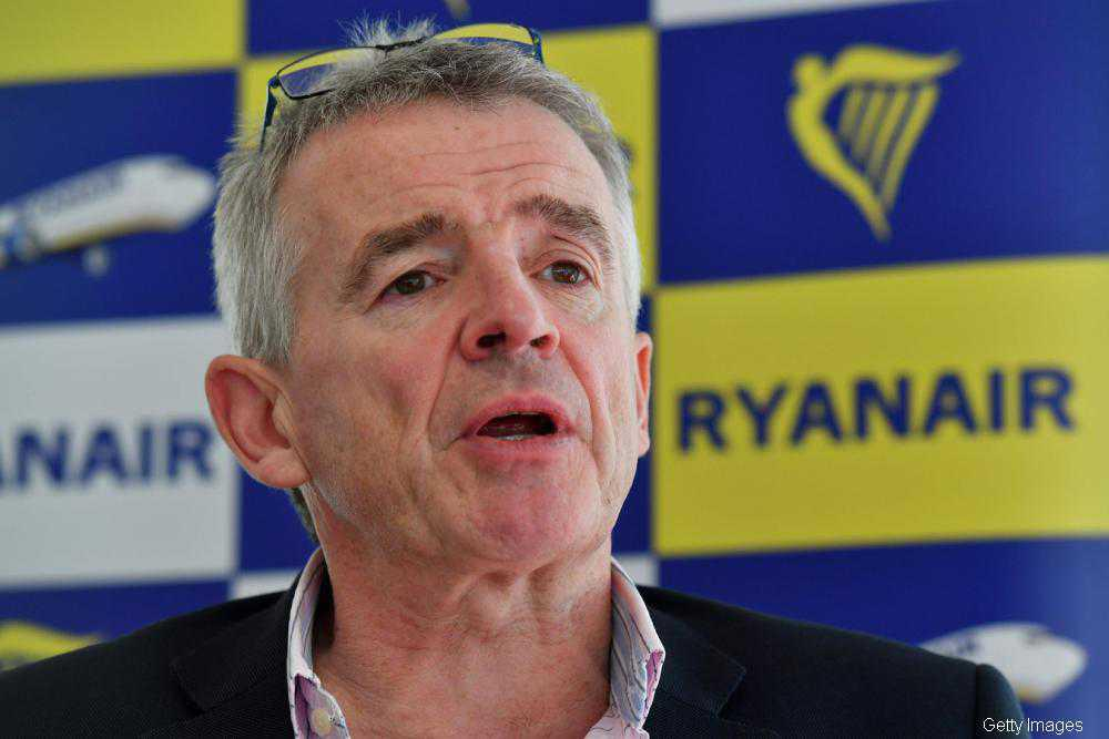 Ryanair facing losses of up to €950m for financial year