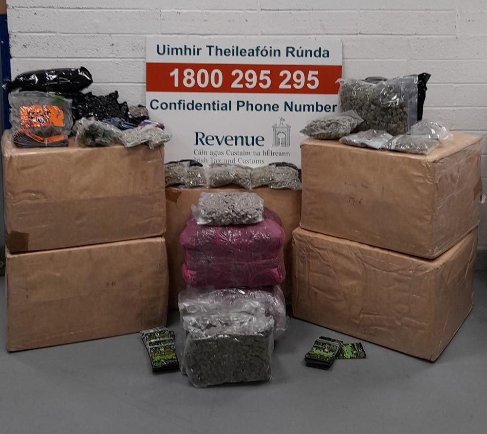 Drugs worth over €225,000 seized in Athlone and Dublin mail centres