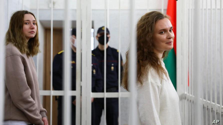 Two journalists jailed in Belarus for covering protest