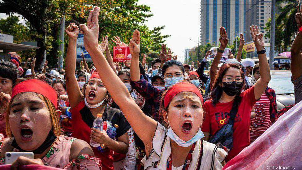 Two anti-coup protesters killed in Myanmar