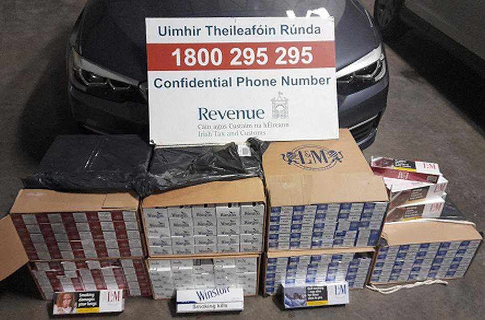 72,000 cigarettes seized from vehicle in Limerick