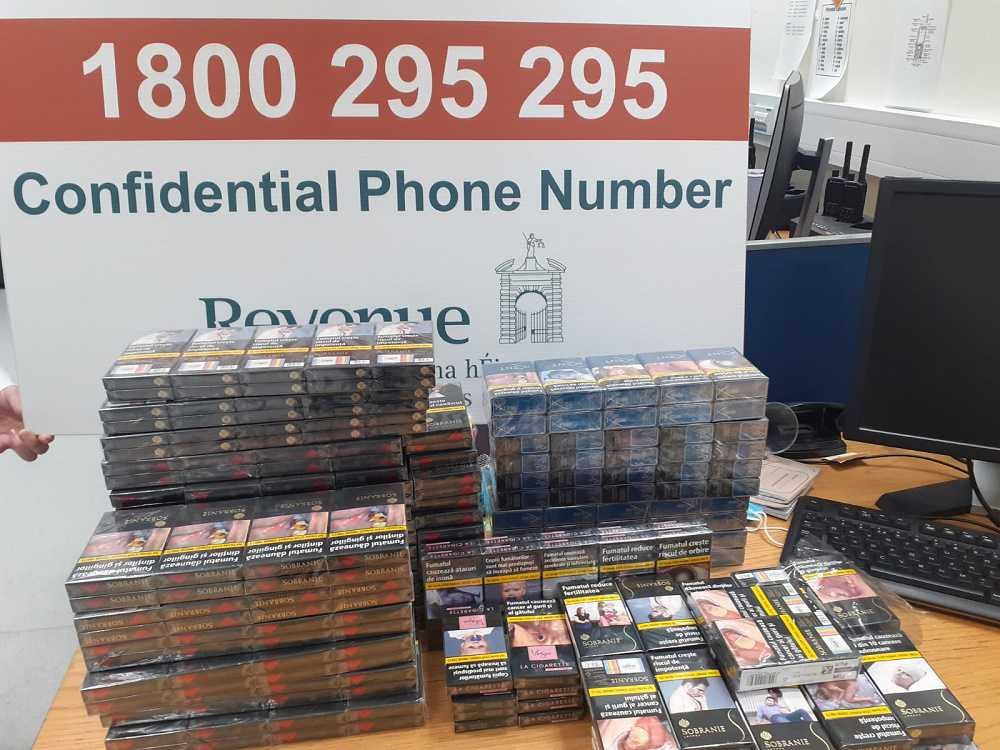 9,400 cigarettes seized from checked baggage at Dublin airport
