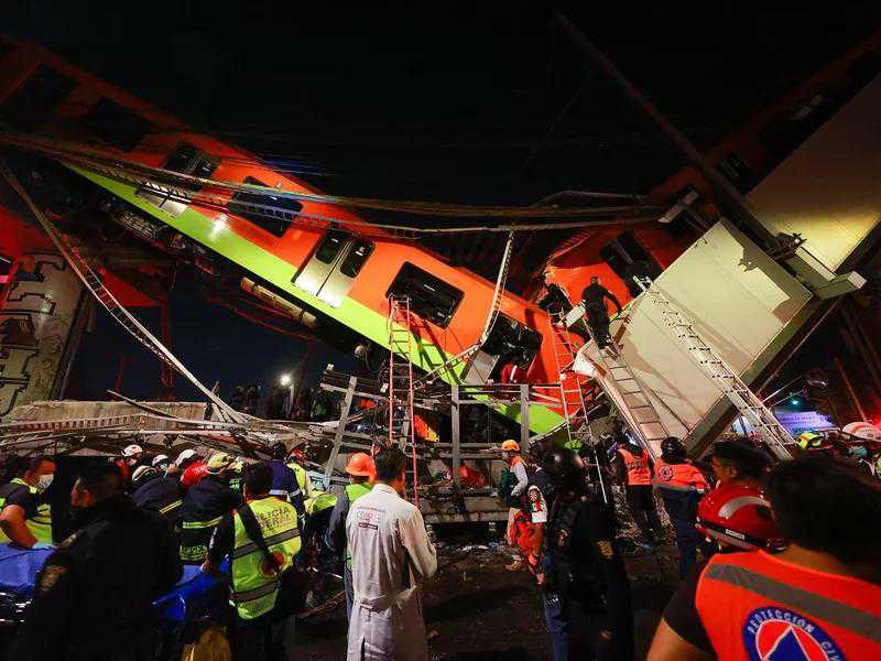 At least 23 killed in Mexico City train derailment