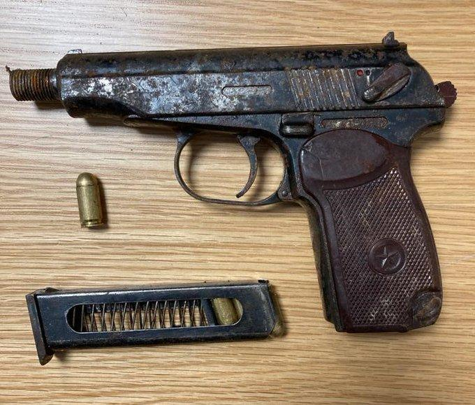 Two arrested after gun found on motorbike in Dublin