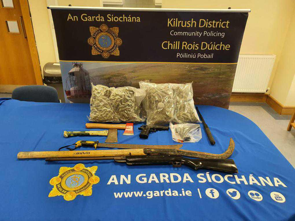 Drugs, cash and weapons seized in Co Clare