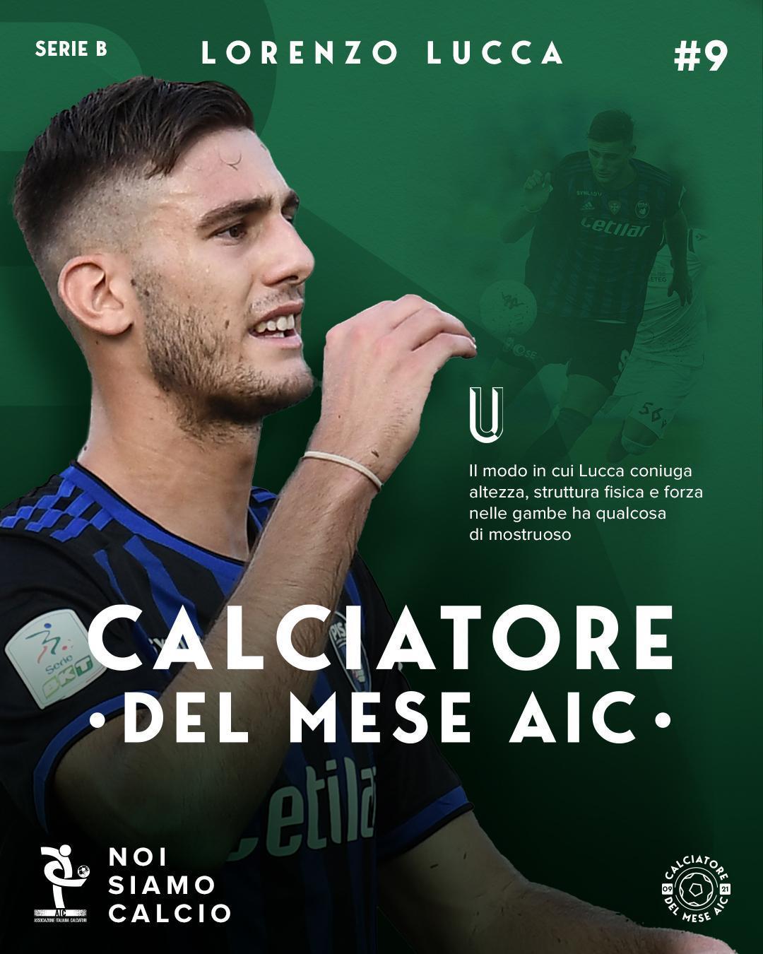 Calciatore del mese AIC settembre '21 Serie B, Lorenzo Lucca