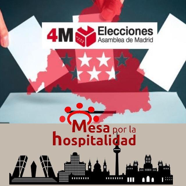 Nota de la Mesa por la Hospitalidad de nuestra Iglesia en Madrid ante las elecciones del 4m