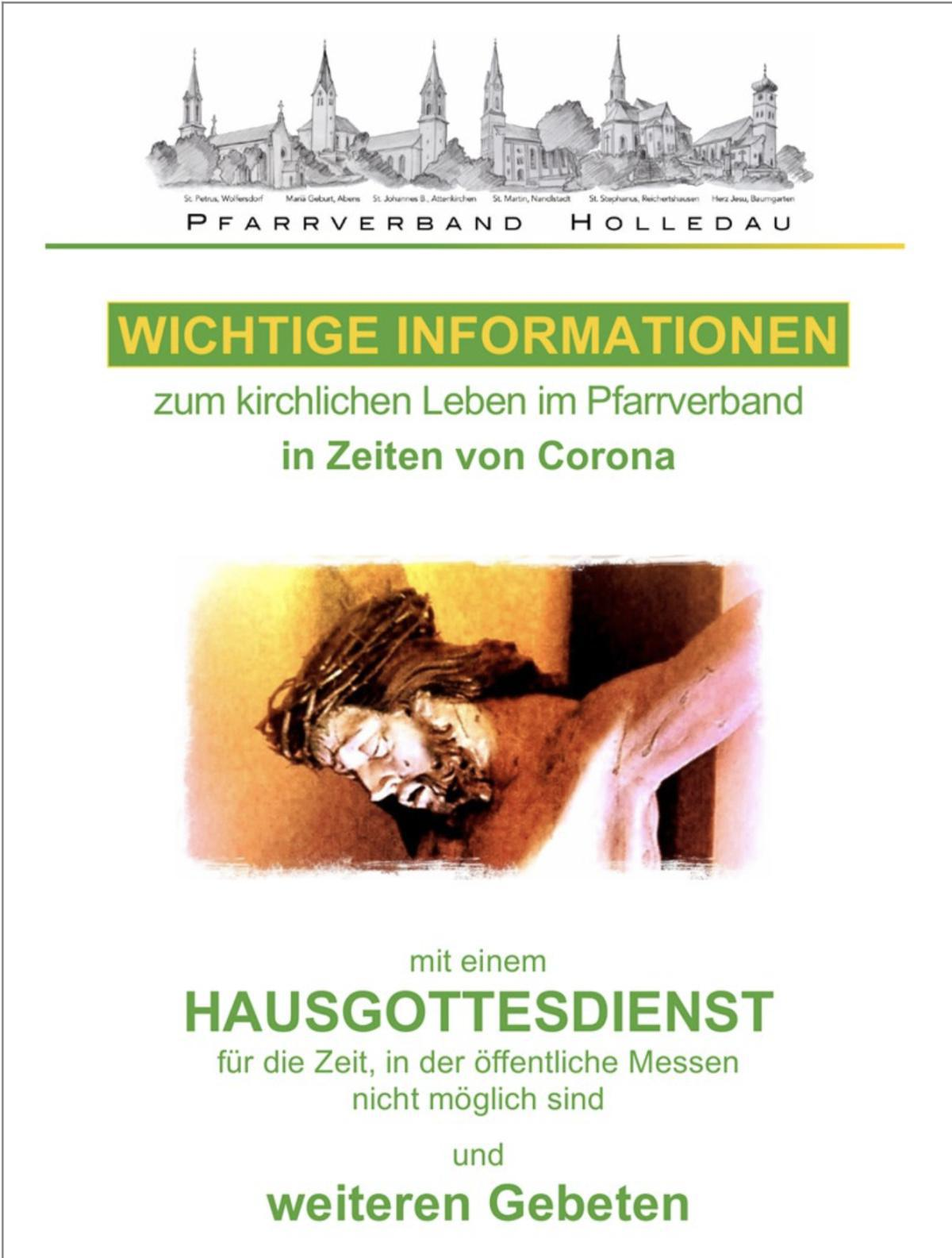 Wichtige Informationen zum kirchlichen Leben im PV in Zeiten von Corona