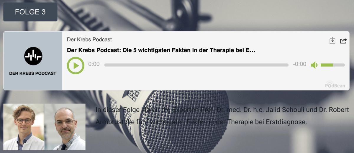 Der Krebs Podcast - Folge 3: Die 5 wichtigsten Fakten bei der Erstdiagnose