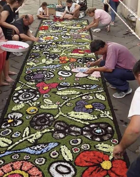 Las alfombras floreales del Corpus Domini