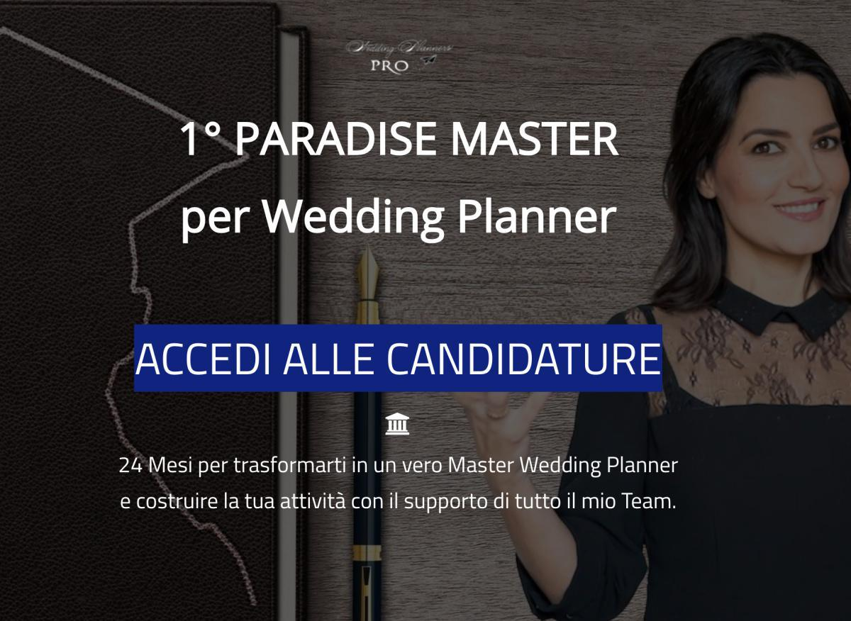 PARADISE Master per Wedding Planners