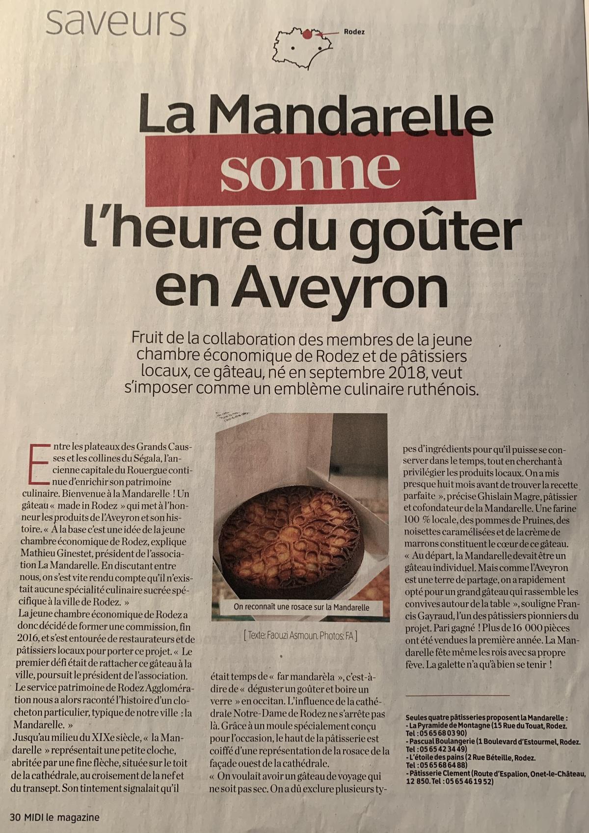 La mandarelle sonne l'heure du goûter en Aveyron