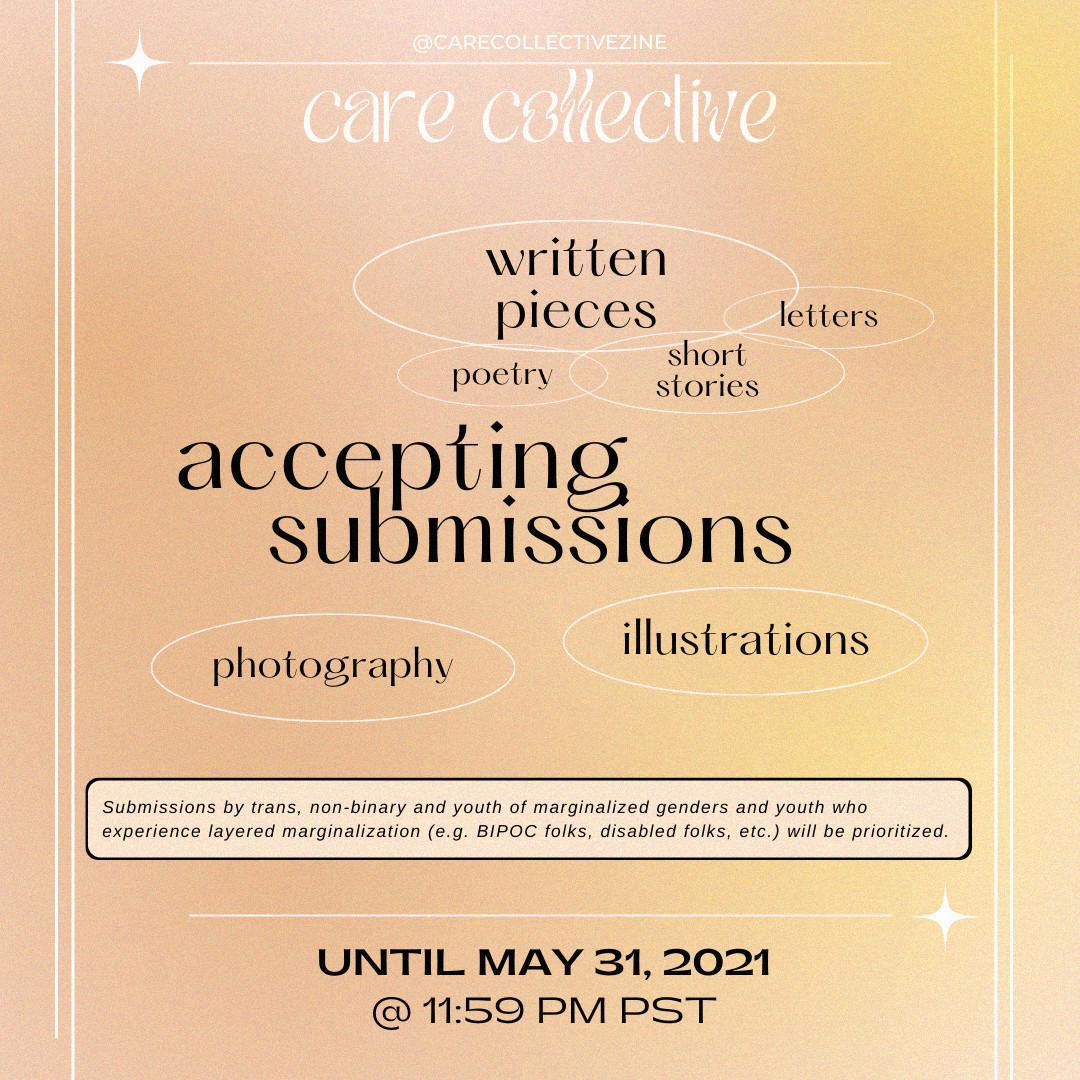 Care Collective is Seeking LGBT2Q+ Submissions for their Digital Zine