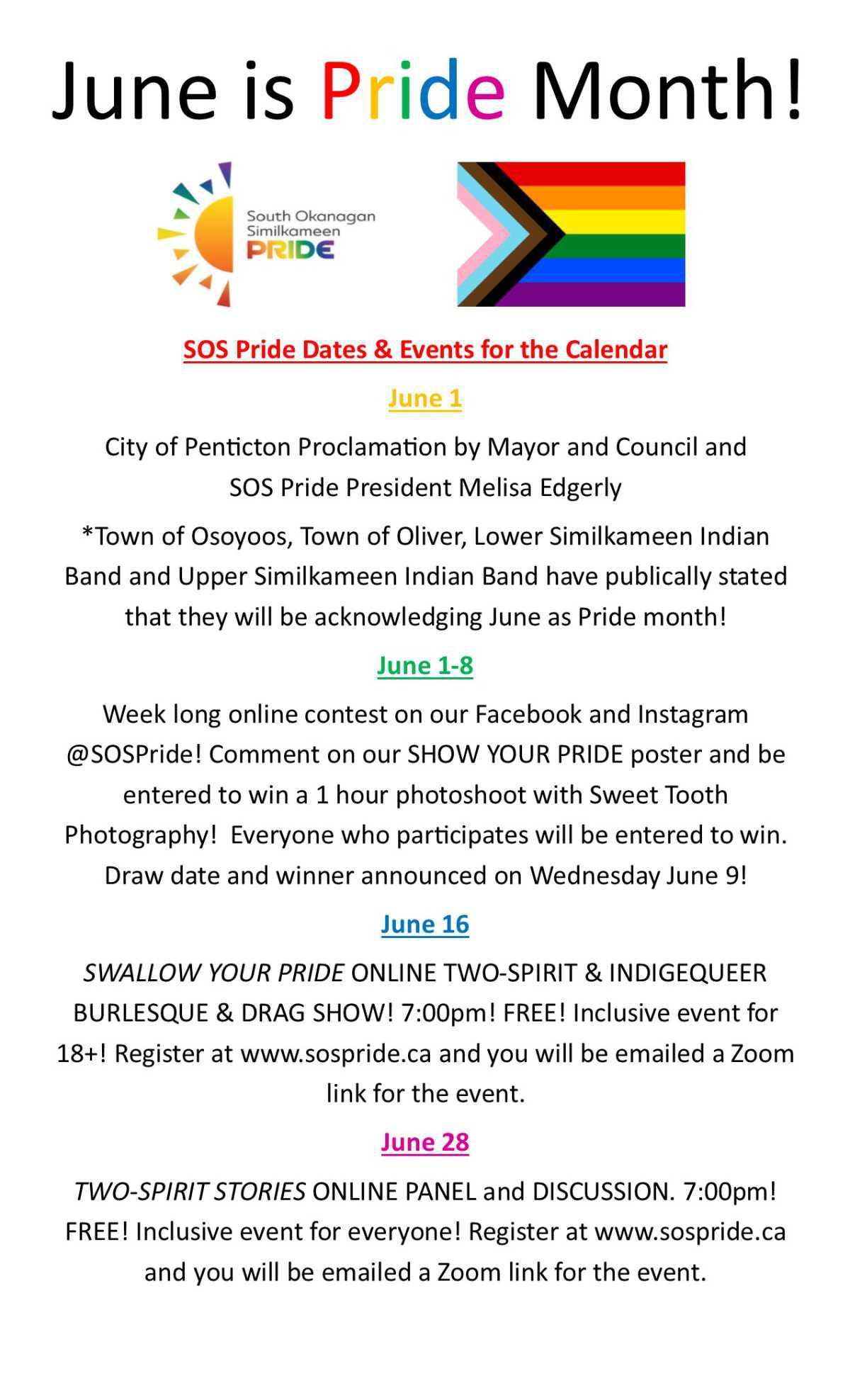 SOS Pride Newsletter - June is Pride Month!