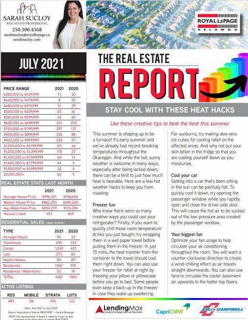 Kelowna Royal LePage - July 2021 Newsletter