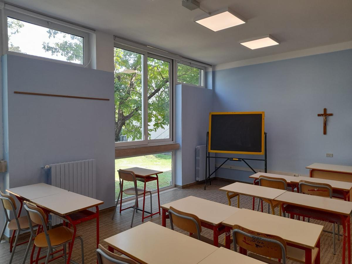 Pronti per il rientro in classe: imbiancate le aule delle scuole