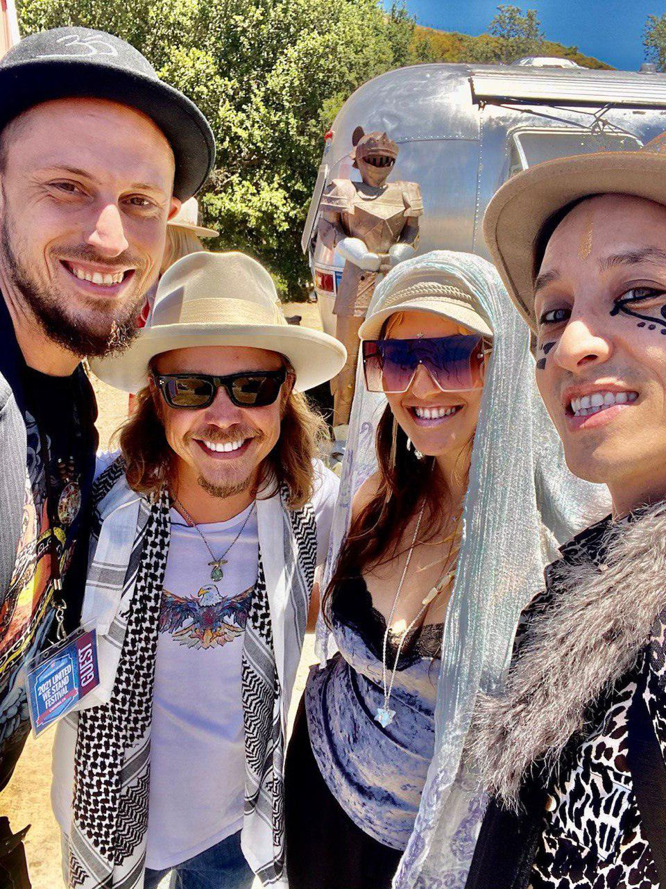 Brock Pierce, Justine Sophia, Nicholas Sun Dragon & Tsunami Diamond at United We Stand