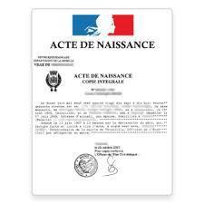 Acte de Naissance
