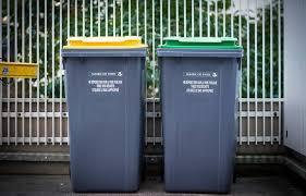 Changement de poubelles (verte ou jaune)
