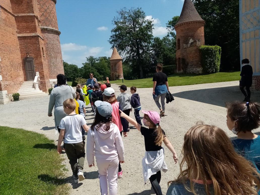 Sortie au Château de Tilly pour nos classes de Grande Section et CP