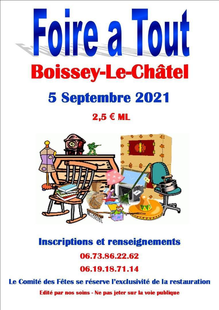 Foire à tout à Boissey le dimanche 5 septembre