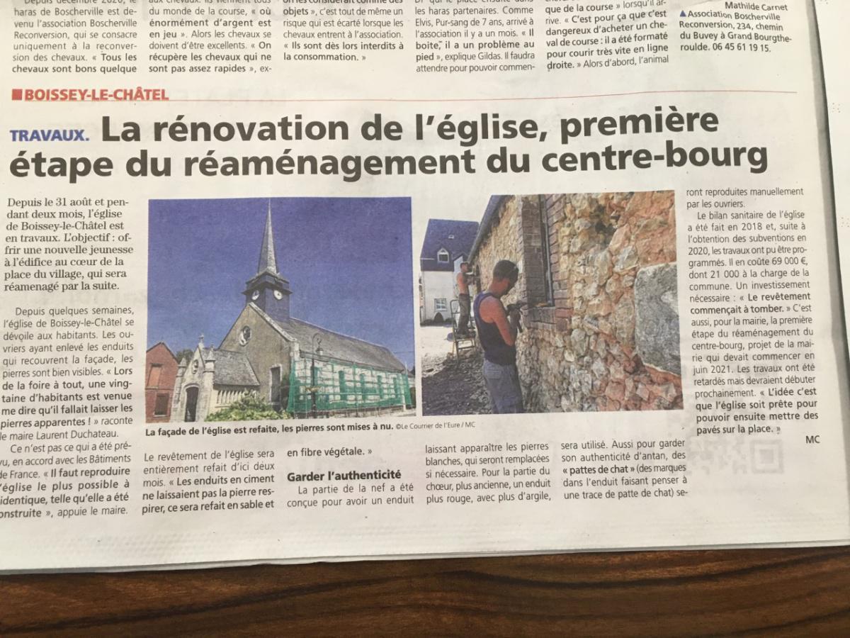 Articles de Presse du Courrier de l'Eure
