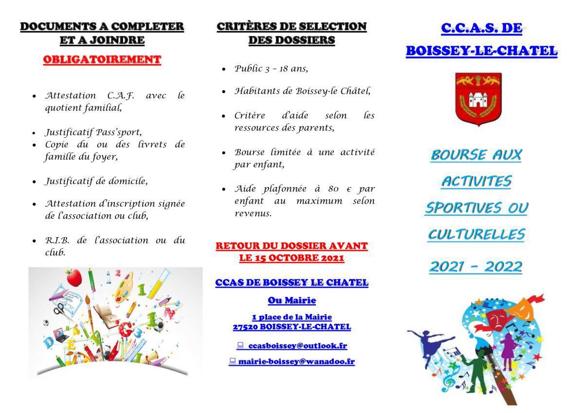 Information de notre CCAS pour nos jeunes sportifs