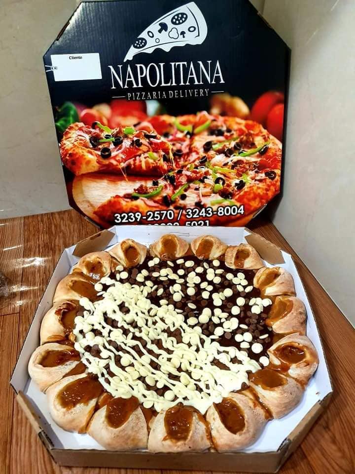 Chocolate Gotas Borda Vulcão Doce de Leite