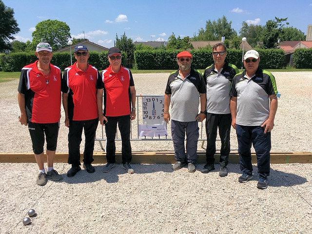 Championnat de l'Ain triplettes vétérans à pétanque - Juin 2021